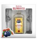 Bošácka Slivovica + 2 poháre v krabičke  0,7l