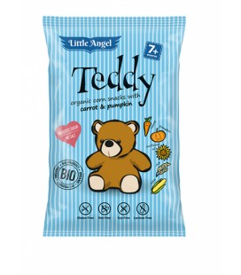 Little Angel Snack kukuričný Teddy mrkvu a tekvica BIO 4x15g