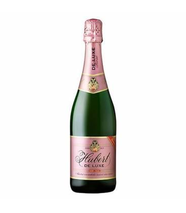 Hubert De Luxe rosé, ružové šumivé víno, sladké - 0,75l