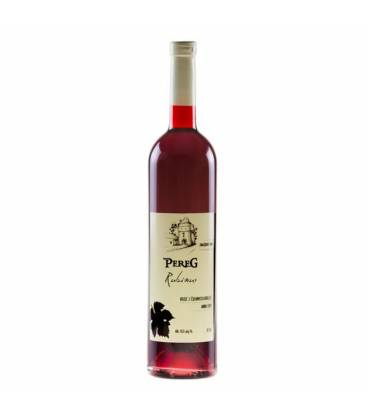 Pereg Rubinus Rose, ružové ríbezľové víno, 0,75l