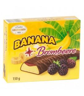 Banán v čokoláde s černicovým želé 150g