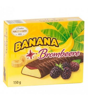 Banány v čokoláde s černicovým želé 150g